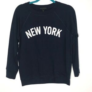 J.Crew New York Crew Neck Pullover Sweatshirt